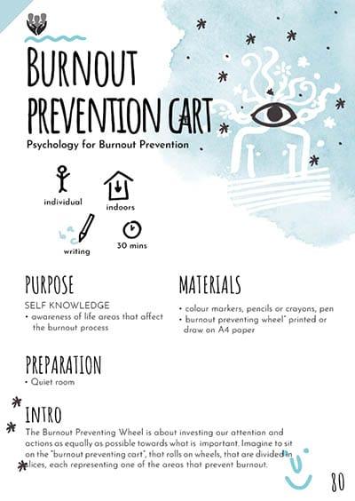 Burnout prevention cart