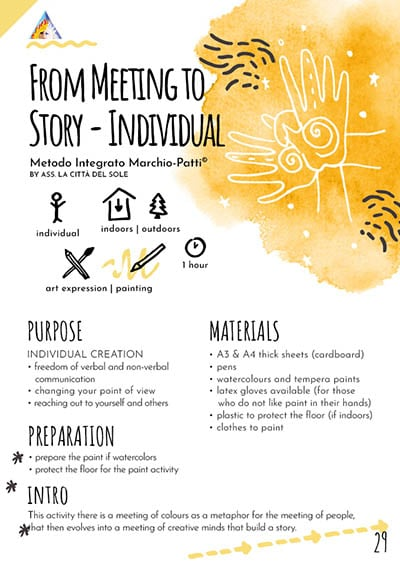 From meeting to story - individual