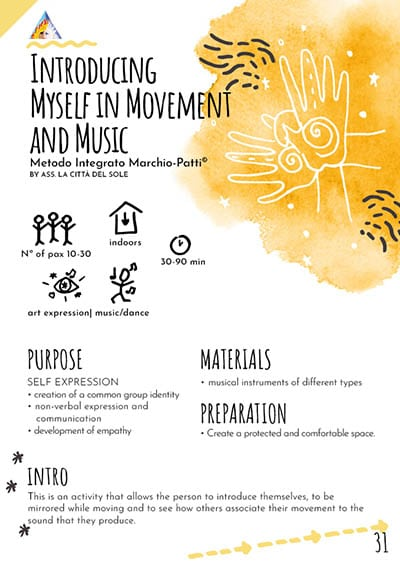 Introducing myself in movement and music