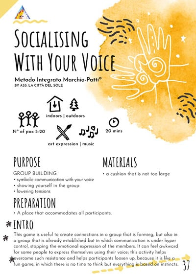 Socializing with your voice